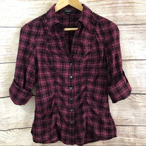 Express Plaid Button Down